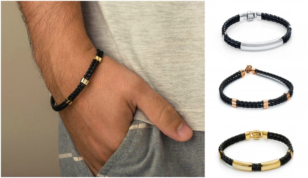 pulseira-masculina-couro-ouro-joiasgold